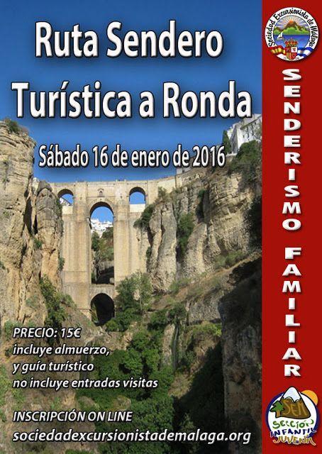 Ruta Sendero-Turística a Ronda, Sábado 16 de Enero de 2016
