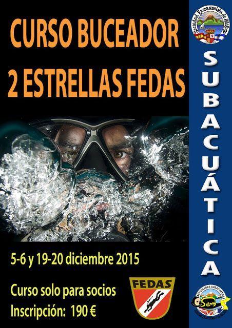 Curso buceador 2 estrellas y actividades subacuática diciembre 2015