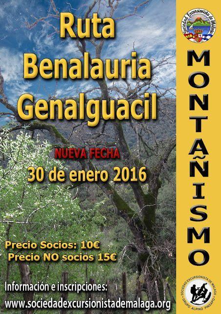 Ruta Benalauria-Genalguacil,  Sábado 30 de enero 2016