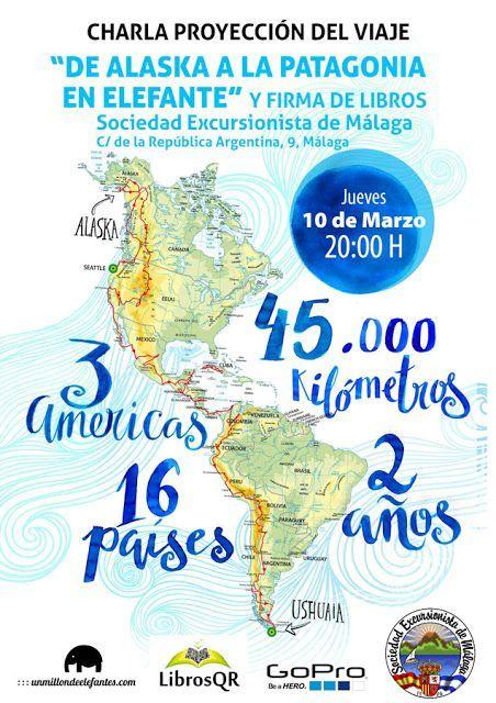 «De Alaska a Patagonia», charla proyeccion y firma de libros, Jueves 10 de marzo a las 20.00h.