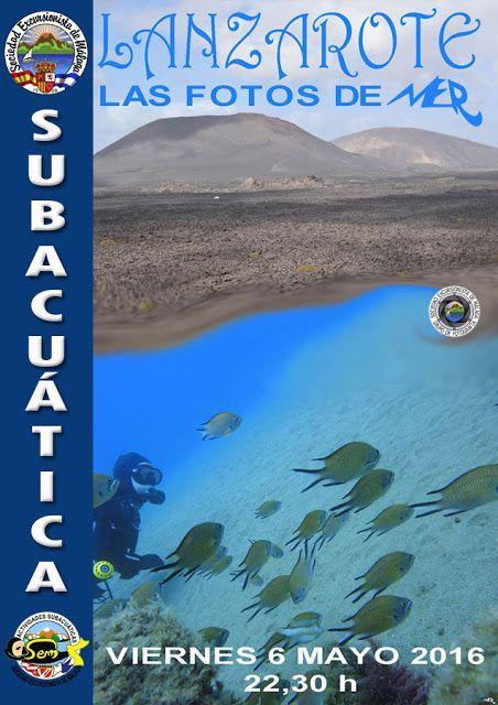 proyeccion fotografias lanzarote submarina, viernes 6 de mayo.