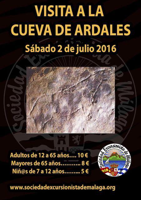 Visita a la cueva de Ardales, sábado 2 de julio.