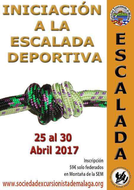 INICIACIÓN A LA ESCALADA DEPORTIVA del 25 al 30 de Abril-2017