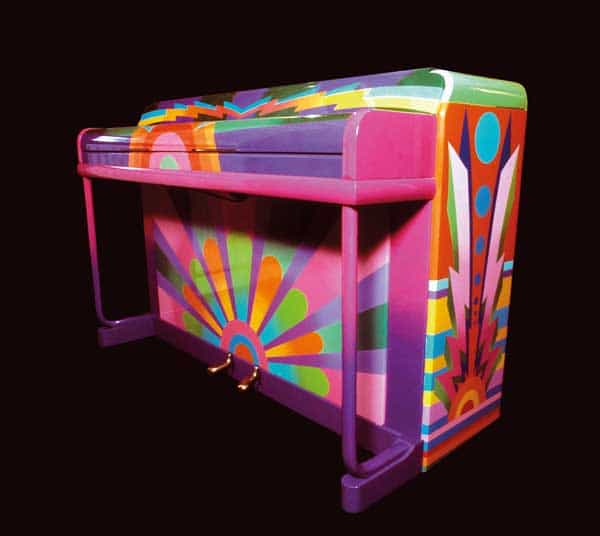"""Paul McCartney wrote """"Hey Jude"""" and other hits on a piano painted by the design group Binder, Edwards & Vaughn."""
