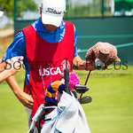 Jackie Stoelting's Caddy and Golf Bag