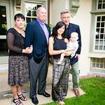 Lan Herrington, Stuart Herrington, Hilaria Baldin holding Carmen, Alec Baldwin