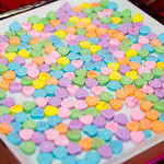 Conversation Hearts on Endless Summer Catering Table