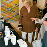 Martha Stewart Visiting the Nespresso Table