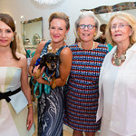 "Jean Shafiroff, Kim Dryer with ""Doodle"", Cathy Duemler, Susan Allen"