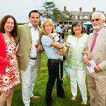 "Joann Giordano, Joe Giordano, Carol Dmitrash holding ""Mimi"", Debbie Elliott, Skip Elliott"