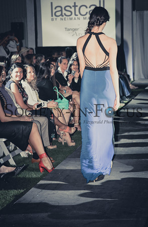 Runway Model in Backless Dress