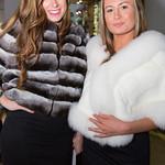 Dana Van Pamlen, Yuliya Wiker wearing Tsontos Furs