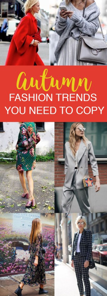 Autumn Fashion Trends You Need To Copy
