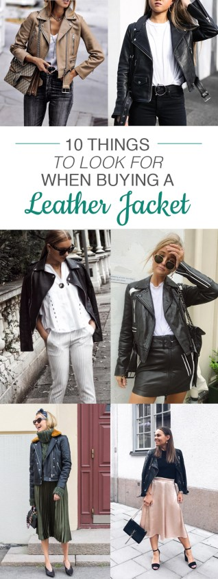 10 Things To look For When Buying A Leather Jacket