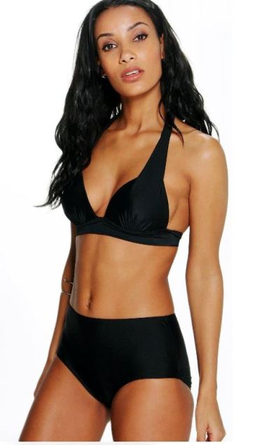 This is one of the cutest high waisted bikini sets!