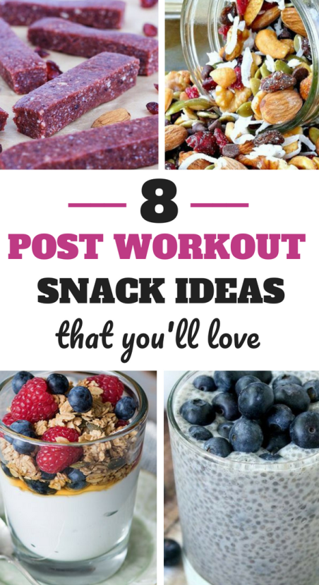 8 Post Workout Snack Ideas