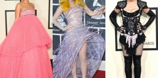 With the Grammy Awards creeping upon us, the red carpet is renowned for showcasing iconic fashion moments. Check out our top ten Grammy Award outfits!