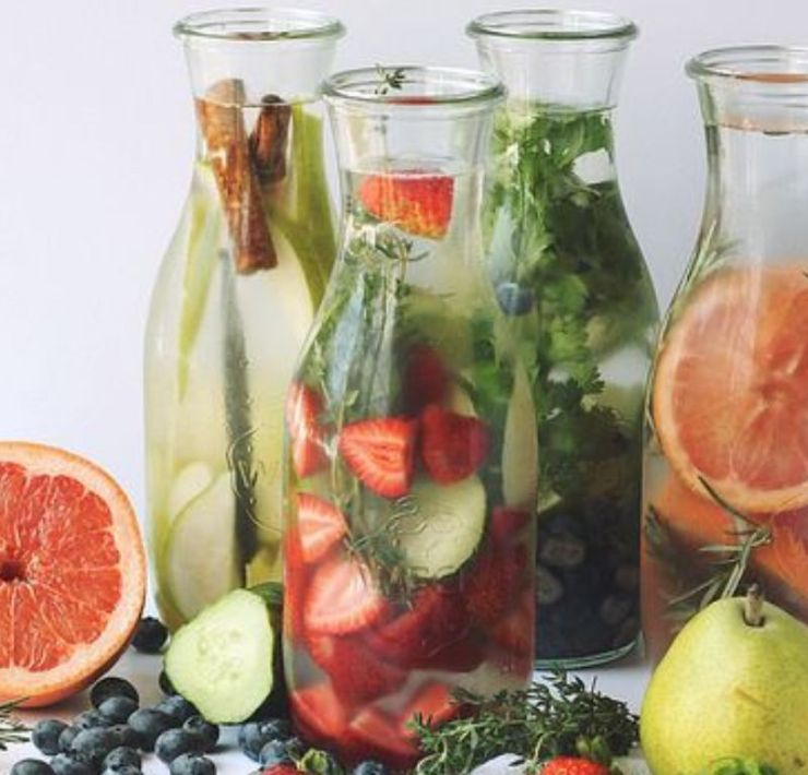 Flavored water is an amazing alternative for those who are not huge fans of pure water! Add a few ingredients to your water to spice it up!
