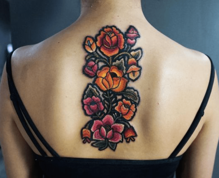 Embroidery Tattoos Are The Hottest New Trend And We're Obsessed With It