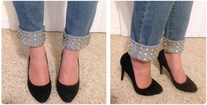 wear studded jeans