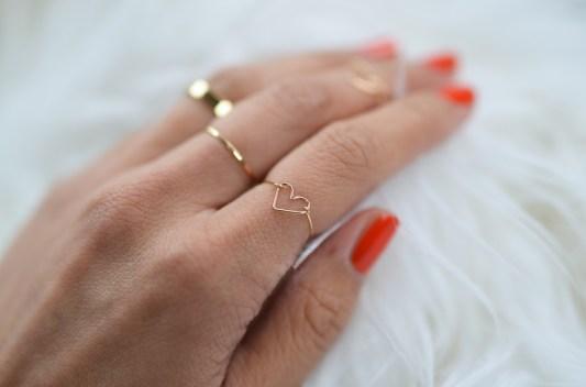 DIY heart ring
