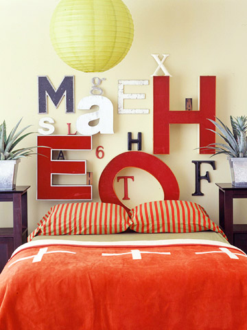 better homes and garden letter headboard