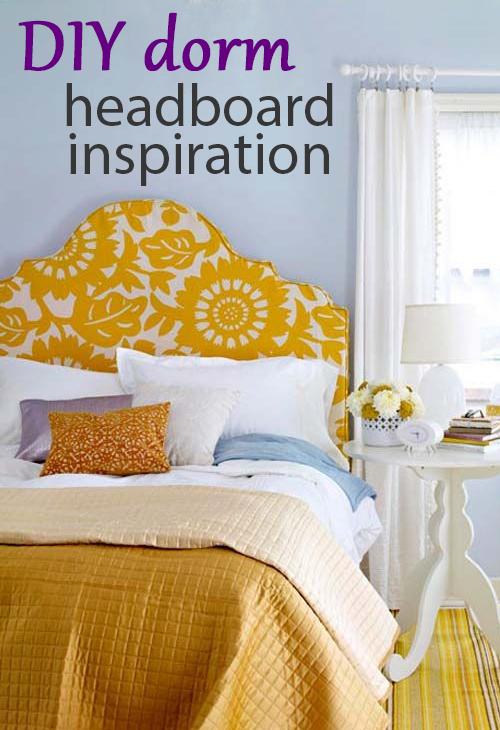 diy dorm headboard inspiration pin