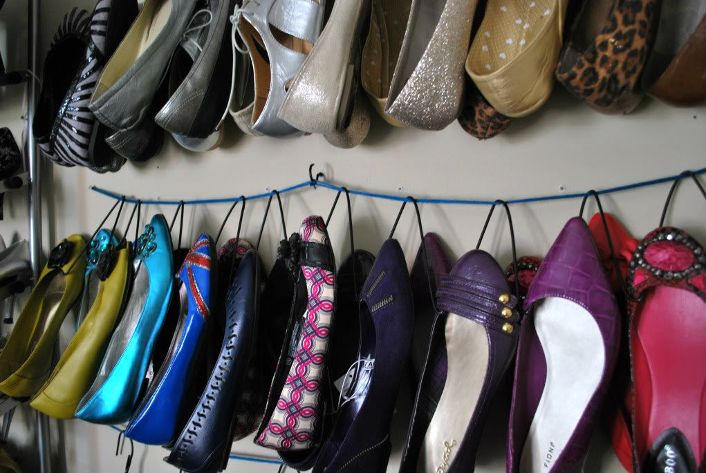 Try this DIY shoe hanger activity. Just take wire hangers from around the house and turn them into shoe hangers! Perfect to help organize your closet.