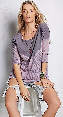 boho free people la livin costal tee