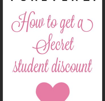 """How to get a """"secret"""" student discount at Forever21"""