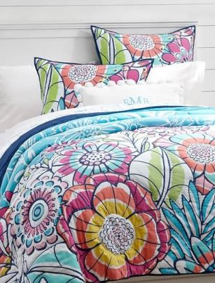 How to brighten a drab dorm room Sunrise Garden Quilt + Sham