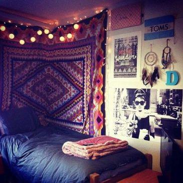 How to brighten a drab dorm room boho