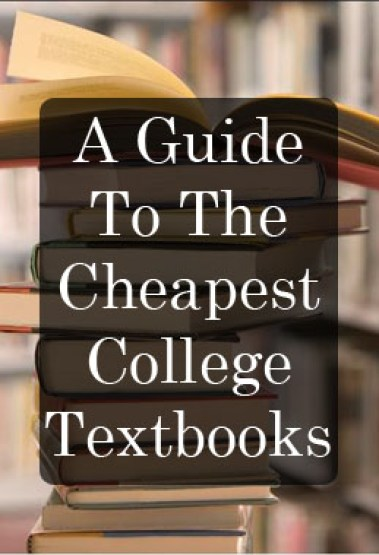 Here's how you can find the cheapest college textbooks