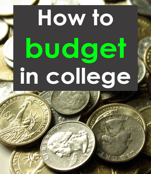 How to stick to a budget in college