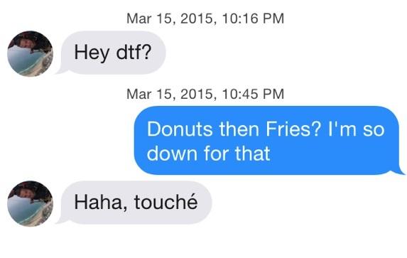 Funny Tinder Messages - DTF