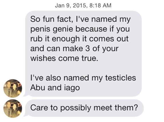 Funny Tinder Messages - Name