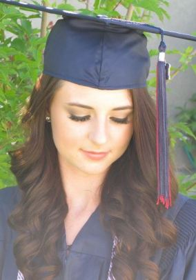 What to wear to graduation - simple makeup brown eyeshadow