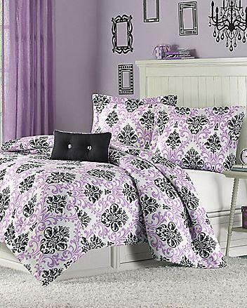 Katelyn Comforter Set in Purple