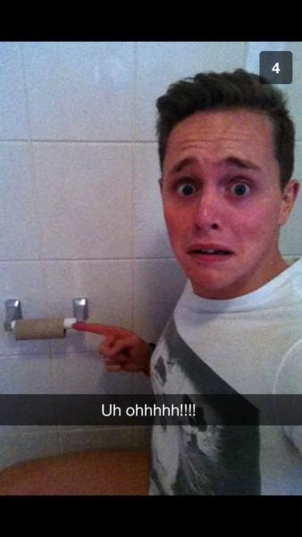 Perfect Snapchats - no toilet paper
