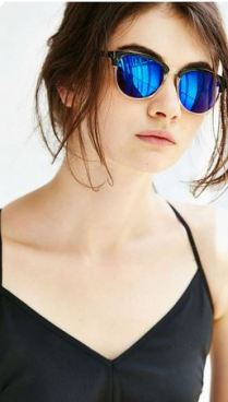 Urban Outfitters Two Tone Half Round Sunglasses