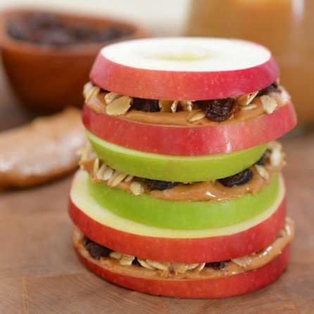 Banana apple sandwiches! Perfect for a dorm room snack