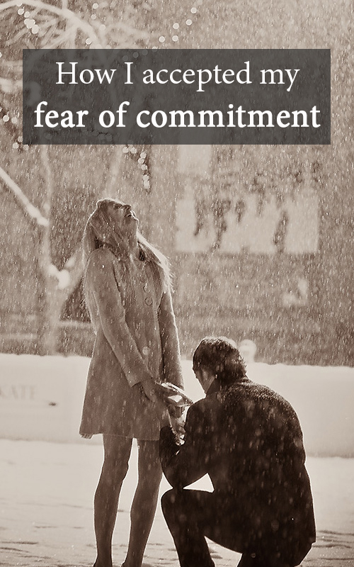 How I accepted my fear of commitment pin