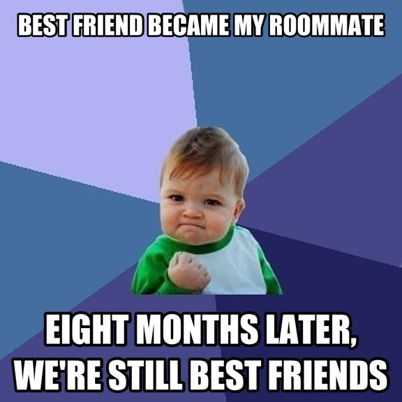 Rooming With My Best Friend In College