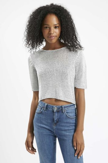 cropped sweater Topshop