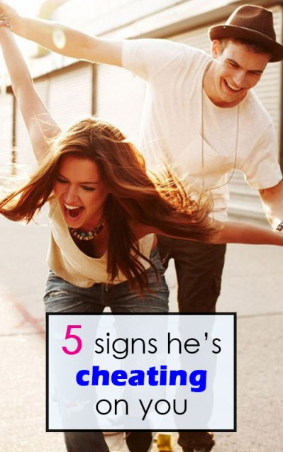 5 signs he's cheating on you pin