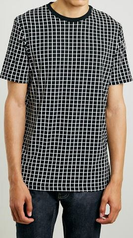 Black Grid Check T-Shirt
