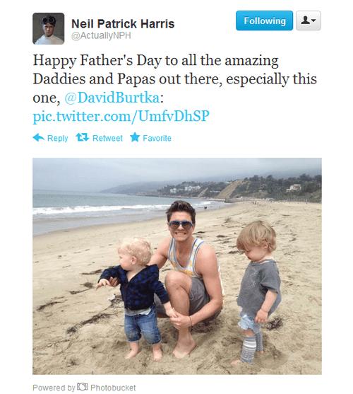 Neil tweets to David