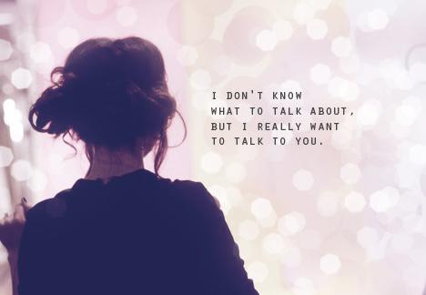 Talk toyour crush