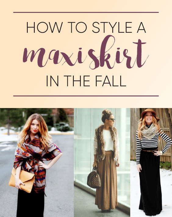 How to style a maxi skirt in the fall