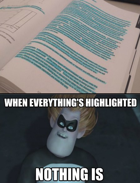 highlight with moderation